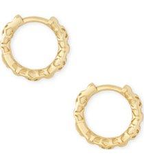"kendra scott small patterned huggie hoop earrings, 0.51"""