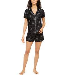 alfani women's ultra-soft pajama shorts set, created for macy's