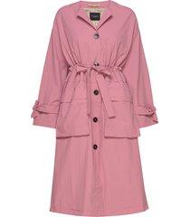 slfbiona ls knot trenchcoat b trenchcoat lange jas roze selected femme