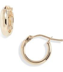 women's bony levy beveled edge huggie hoop earrings (nordstrom exclusive)