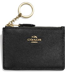 women's coach mini id skinny leather card case - none