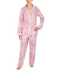 miss elaine paisley pajama set