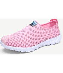 mesh traspirante morbido slip on scarpe causali atletiche per le donne