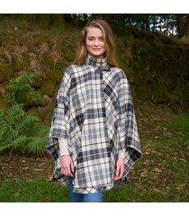 hourihan 100% pure new wool donegal tweed irish cape black & white