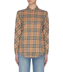 'archive' check shirt