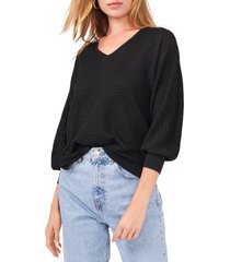 women's 1.state drop shoulder balloon sleeve sweater, size xx-small - black