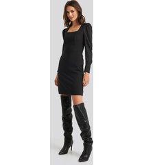 trendyol yol classic mini dress - black