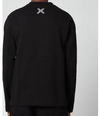 kenzo men's sport long sleeve t-shirt - black - xs