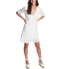 1.state textured eyelet-embroidered dress