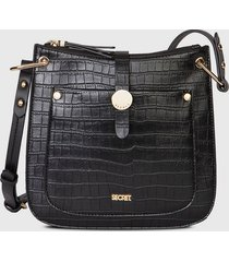 cartera  lisburn fw20 negro secret by saxoline