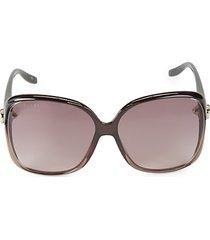 60mm oversized square sunglasses