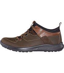 skor med snörning jomos brun