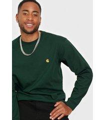 carhartt wip l/s chase t-shirt tröjor green
