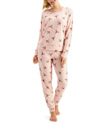 jenni pajamas & scrunchie set, created for macy's