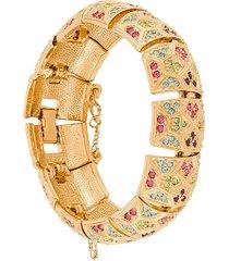 susan caplan vintage 1980s d'orlan dec-style bracelet - gold
