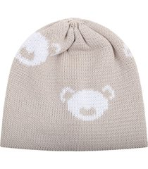 little bear beige hat for babyboy