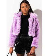 akira mi amor plush faux fur jacket