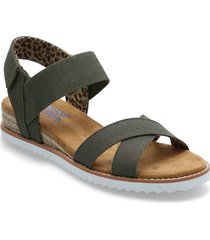 womens bobs - desert kiss secret picnic sandaletter expadrilles låga svart skechers