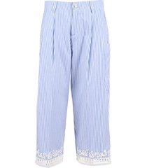 ermanno scervino cotton trousers