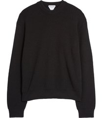 men's bottega veneta military rib crewneck sweater