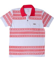 camiseta tipo polo rojo puntazul