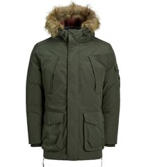 parka jack & jones groen plus size