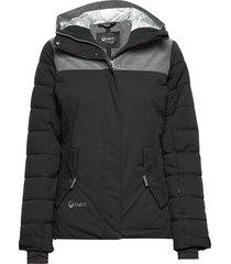 kilta w dx warm ski jacket gevoerd jack zwart halti