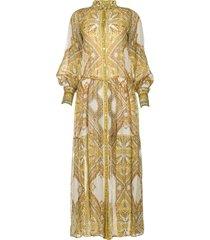 maxi jurk met print jules  wit