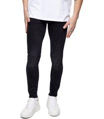 men's topman super skinny jeans, size 28 x 30 - black