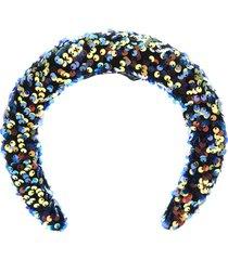 maison michel flora sequined 3d headband