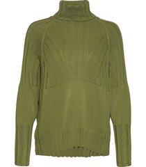 sweater in seawool w. high neck turtleneck coltrui groen coster copenhagen