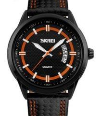 reloj hombre skmei 9116 orange deportivo