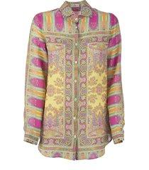etro ornamental paisley print shirt