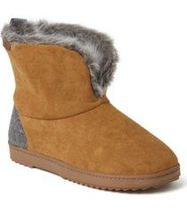 dearfoams women's sierra microsuede bootie slippers