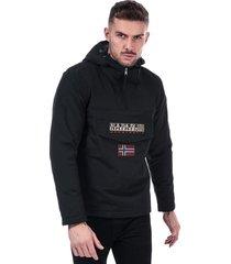napapijri mens rainforest winter jacket size 2xl in black
