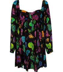 versace jeans couture twill gioielli print dress