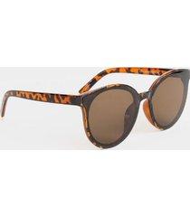 laynee round frame sunglasses - tortoise