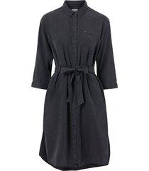 skjortklänning long denim dress