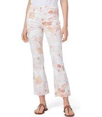 women's paige claudine raw hem jeans, size 28 - pink