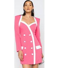 akira boujee barbie mini long sleeve dress with boxy shoulders