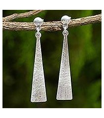 sterling silver dangle earrings, 'modern touch' (thailand)