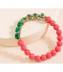 women's all good beaded bracelet in multi by francesca's - size: one size