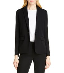 women's vince single button blazer, size 16 - black