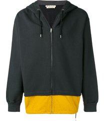 marni two-tone hoodie - grey
