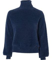 blusa le lis blanc rose iii tricot azul feminina (dark blue, gg)