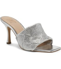 inc international concepts women's liah braided slide heels, created for macy's women's shoes
