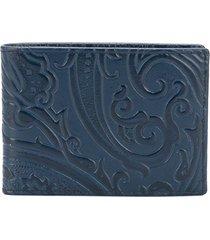 etro paisley print wallet - blue