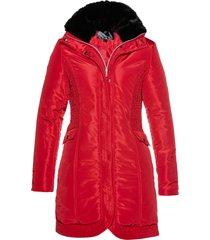 giacca lunga trapuntata (rosso) - bpc selection