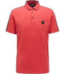 boss men's pevided color-block polo shirt