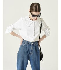camisa blanca portsaid ruffle lavigne